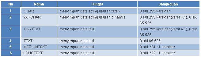 tipe data string